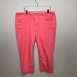 J. Jill Coral Authentic Fit Cropped Jean.